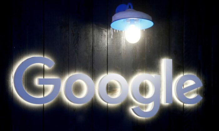 The logo of Google is seen in Davos, Switzerland, on Jan. 20, 2020. (Arnd Wiegmann/Reuters)