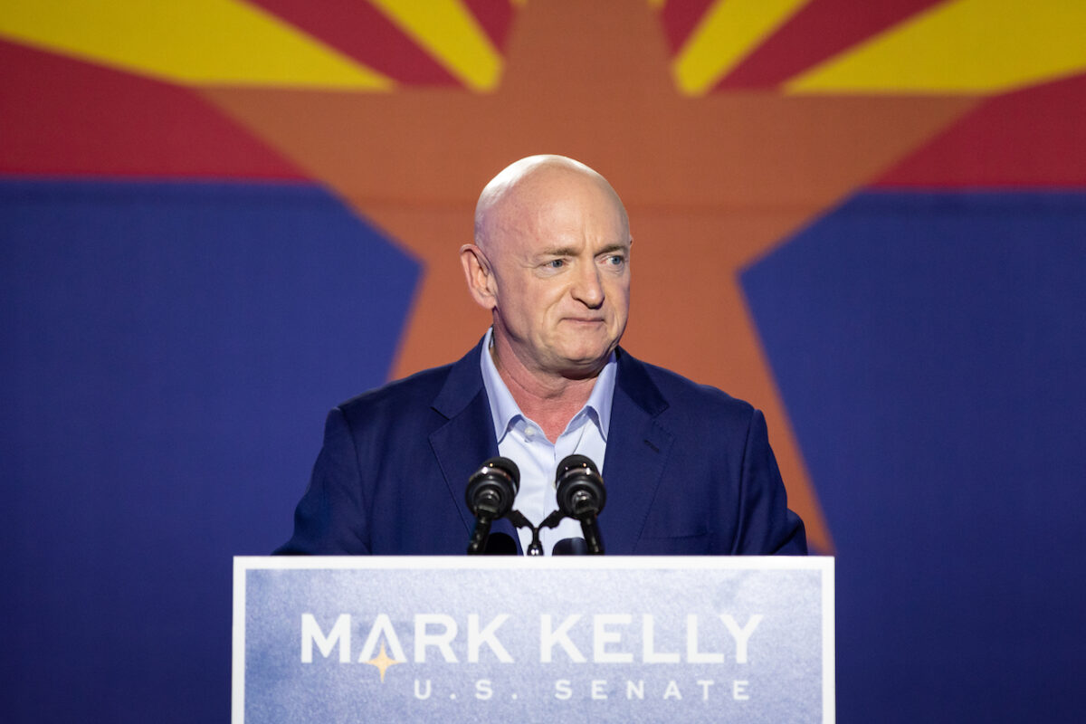 Democratic Senate Candidate Mark Kelly Holds Election Night Event In Tucson