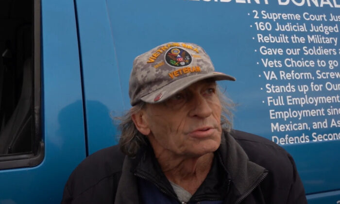 Ray Paul attended a Stop the Steal rally in Milwaukee, Wisconsin on Nov. 13, 2020. (NTD Television)