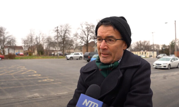 Kent Franklin attended a Defend Your Vote rally in Milwaukee on Nov. 14, 2020. (NTD Television)