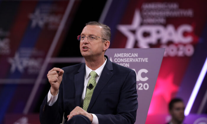 Rep. Doug Collins (R-Ga.) speaks during the annual Conservative Political Action Conference (CPAC) at Gaylord National Resort and Convention Center in National Harbor, Md., on Feb. 27, 2020. (Alex Wong/Getty Images)