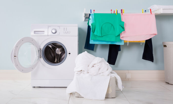 Air-dry your clothes after a quick machine-dry—or none at all, for more delicate fabrics. (Andrey_Popov/Shutterstock)