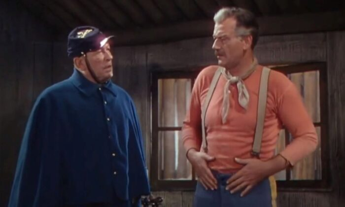 "Victor McLaglen (L) and John Wayne in ""She Wore a Yellow Ribbon."" (Warner Archive Collection)"