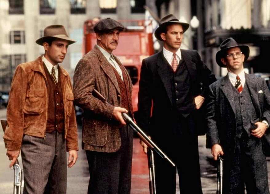 """four men with shotguns in """"The Untouchables"""""""
