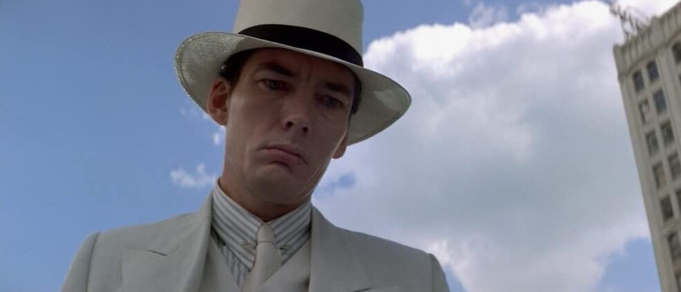 """man in white suit and hat in """"The Untouchables"""""""