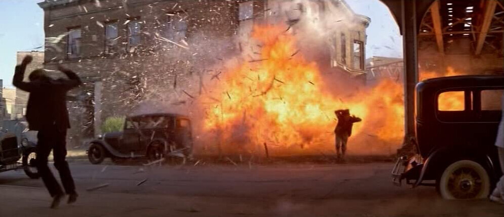 """bomb explosion in a pharmacy in """"The Untouchables"""""""