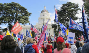Over a Thousand Gather for 'Stop the Steal' Rally at California State Capitol