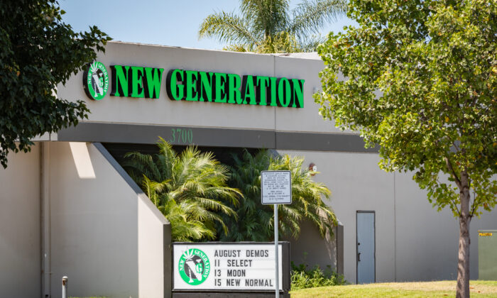 New Generation cannabis shop in Santa Ana, Calif., on Aug. 14, 2020. (John Fredricks/The Epoch Times)
