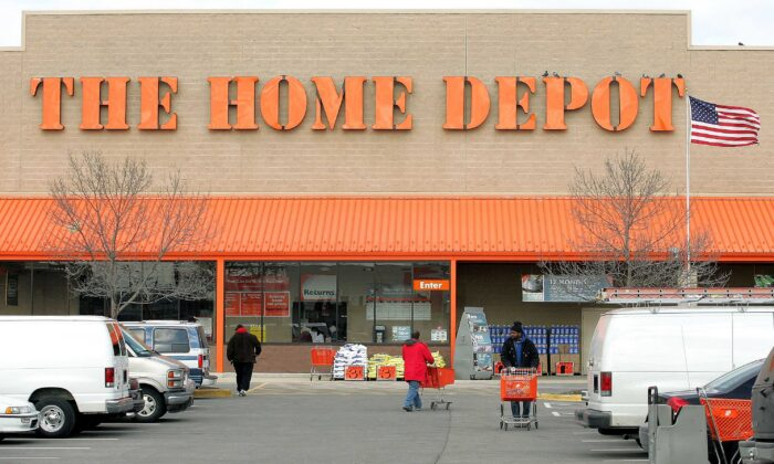 The facade of The Home Depot store is seen in Evanston, Ill., on Feb. 17, 2005. (Tim Boyle/Getty Images)