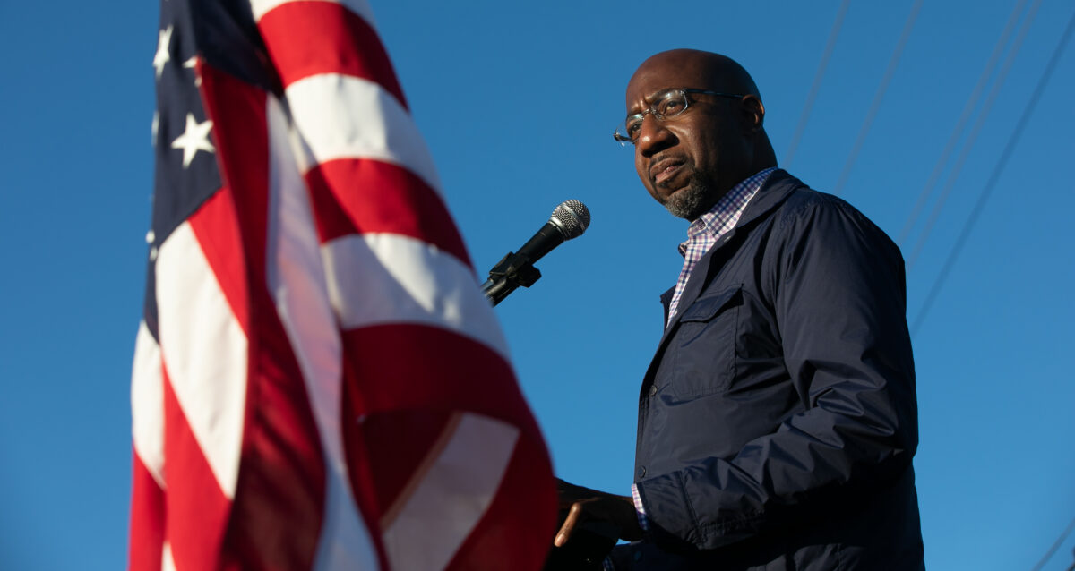 Democratic U.S. Senate candidate Raphael Warnock