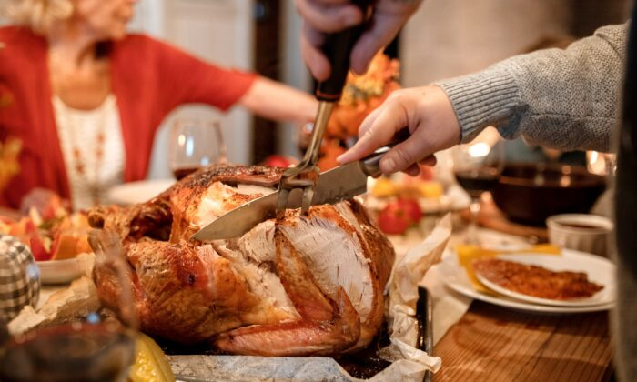 A file photo of a turkey being carved. (RODNAE Productions/Pexels)