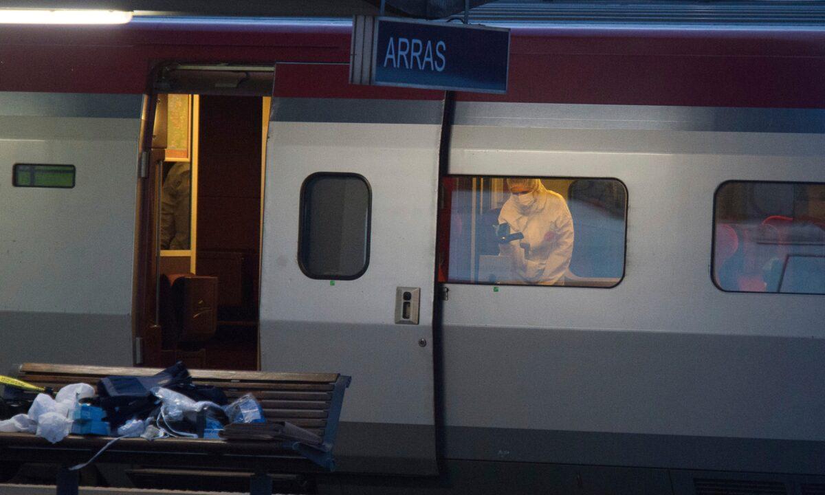 train crime scene ISIS