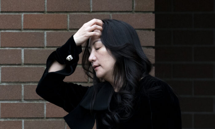 Chief Financial Officer of Huawei Meng Wanzhou leaves her home in Vancouver, Canada, on Nov. 16, 2020. (Jonathan Hayward/The Canadian Press)