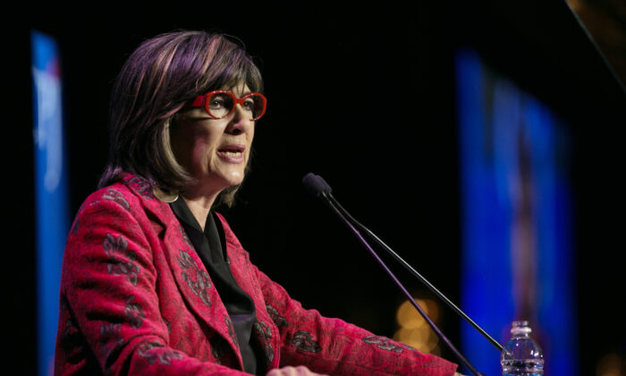 Christiane Amanpour speaks at CPJ's annual International Press Freedom Awards in New York City, N.Y., on Nov. 15, 2017. (Kevin Hagen/Getty Images for CPJ)