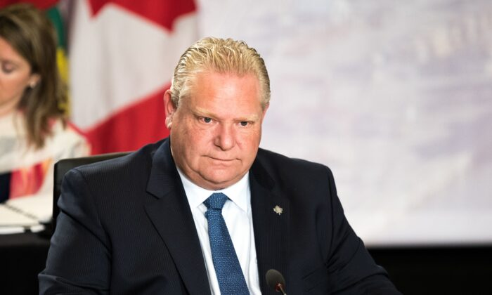 Ontario Premier Doug Ford attends a meeting of the prime ministers of the Canadian provinces in Montreal, Canada on Dec. 7, 2018. (Martin Ouellet-Diotte/AFP via Getty Images)