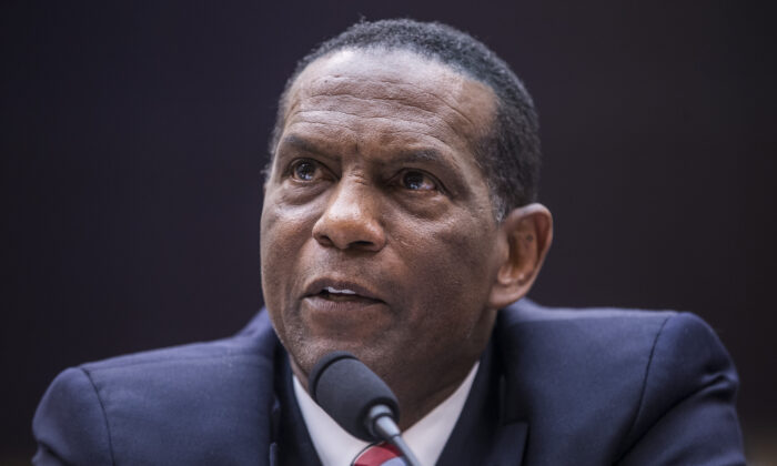 Former NFL player Burgess Owens testifies during a hearing in Washington on June 19, 2019. (Zach Gibson/Getty Images)