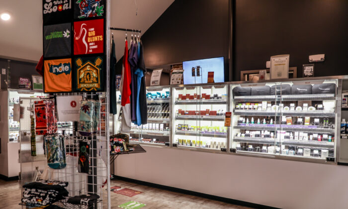 Cannabis products for sale at a dispensary in Denver, Colo., on Sept. 30, 2020. (Charlotte Cuthbertson/The Epoch Times)