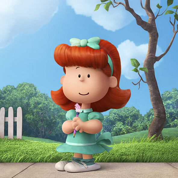 "red-haired girl in turquoise dress in ""The Peanuts Movie"""