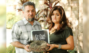 Mom and Dad Stage Witty Photoshoot Celebrating 'Empty Nest' as Their Kids Move Out