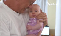 Baby Meets Grandpa for First Time