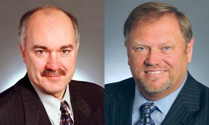 Minnesota state Sens. Dave Tomassoni and Tom Bakk in file photographs. (Minnesota Senate)