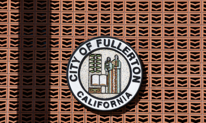 A view of City Hall in Fullerton, Calif., on Nov. 17, 2020. (John Fredricks/The Epoch Times)