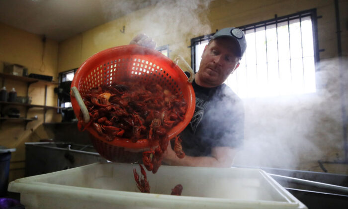 Boiled crawfish is prepared at Bevi Seafood Co. on March 19, 2020 in New Orleans, Louisiana.  (Chris Graythen/Getty Images)