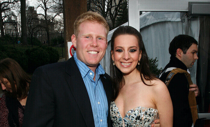 Andrew Giuliani and Sarah Hughes attend the 2011 Skating With the Stars Gala at Wollman Rink - Central Park on April 4, 2011 in New York City. (Andy Kropa/Getty Images)
