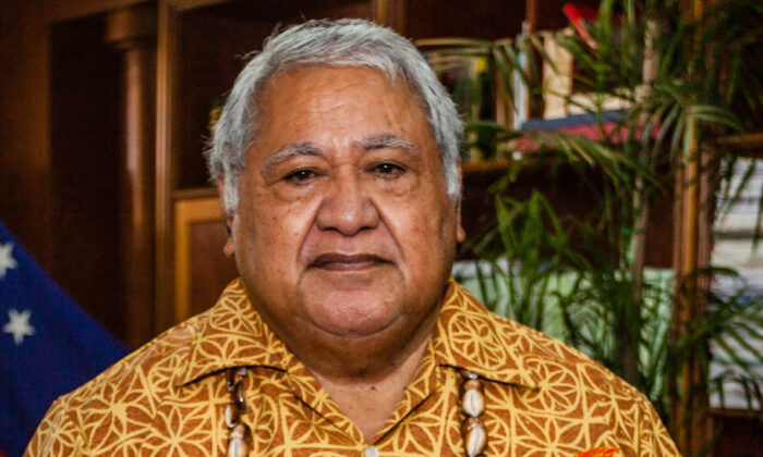 Samoan Prime Minister Tuilaepa at the 3rd UN Small Islands Developing States conference. (www.dfat.gov.au)