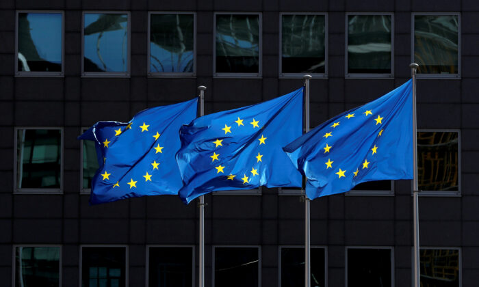 European Union flags flutter outside the European Commission headquarters in Brussels, Belgium in this file photo. (Reuters/Yves Herman)