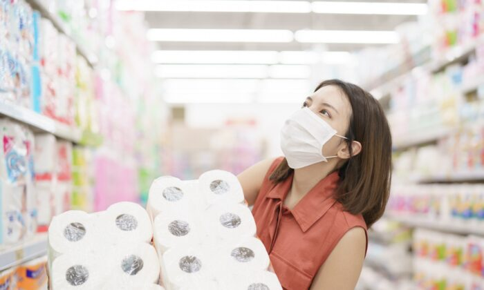 While it may be normal to stockpile items in the face of an expected shortage, it is abnormal to retain an excess of items when the need passes.  (MBLifestyle/Shutterstock)