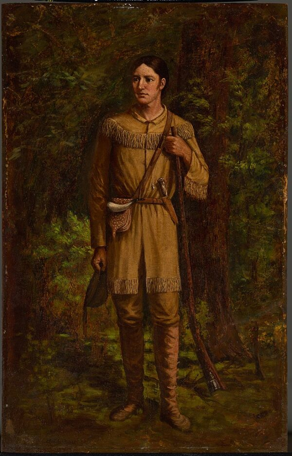 davy crockett portrait