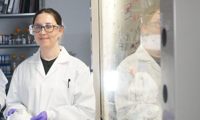 Ilaria Rubino is shown in this undated handout image at University of Alberta. Alberta researcher Rubino has developed technology allowing mostly salt to kill pathogens in COVID-19 droplets as they land on a mask. (The Canadian Press/HO-University of Alberta)