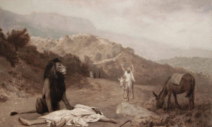 """""""The Disobedient Prophet,"""" circa 1895, by Jean-Léon Gérôme. Oil on canvas. Georges-Garret Museum, Vesoul. (Public Domain)"""
