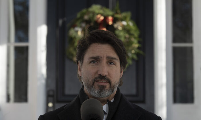 Prime Minister Justin Trudeau makes his opening remarks 