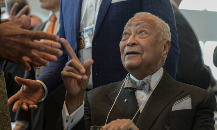 Former Mayor of New York City, David Dinkins, attends Governor Andrew Cuomo's State of the State address in New York City, on Jan. 9, 2017. (Stephanie Keith/Reuters)