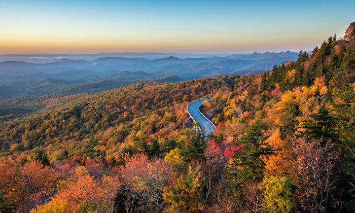 The Linn Cove Viaduct snakes along the side of Grandfather Mountain. (anthony heflin/Shutterstock)