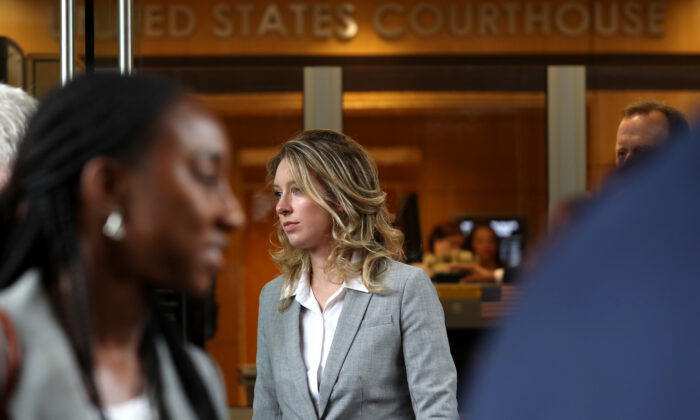 Former Theranos founder and CEO Elizabeth Holmes leaves federal court in San Jose, Calif., on June 28, 2019. (Justin Sullivan/Getty Images)
