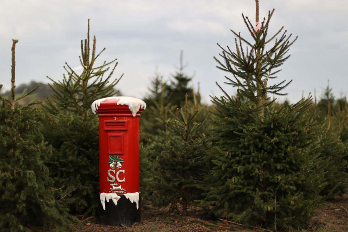 A mailbox for letters to Santa Claus