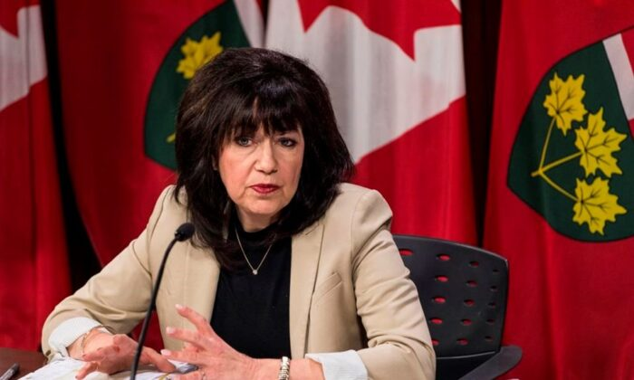 Ontario Auditor General Bonnie Lysyk speaks during a press conference at Queens Park after the release of her 2019 annual report in Toronto on December 4, 2019. (The Canadian Press/Aaron Vincent Elkaim)