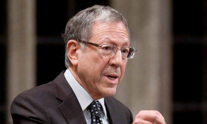 Former Liberal MP Irwin Cotler rises during question period in the House of Commons in Ottawa, on December 15, 2011. (The Canadian Press/Adrian Wyld)