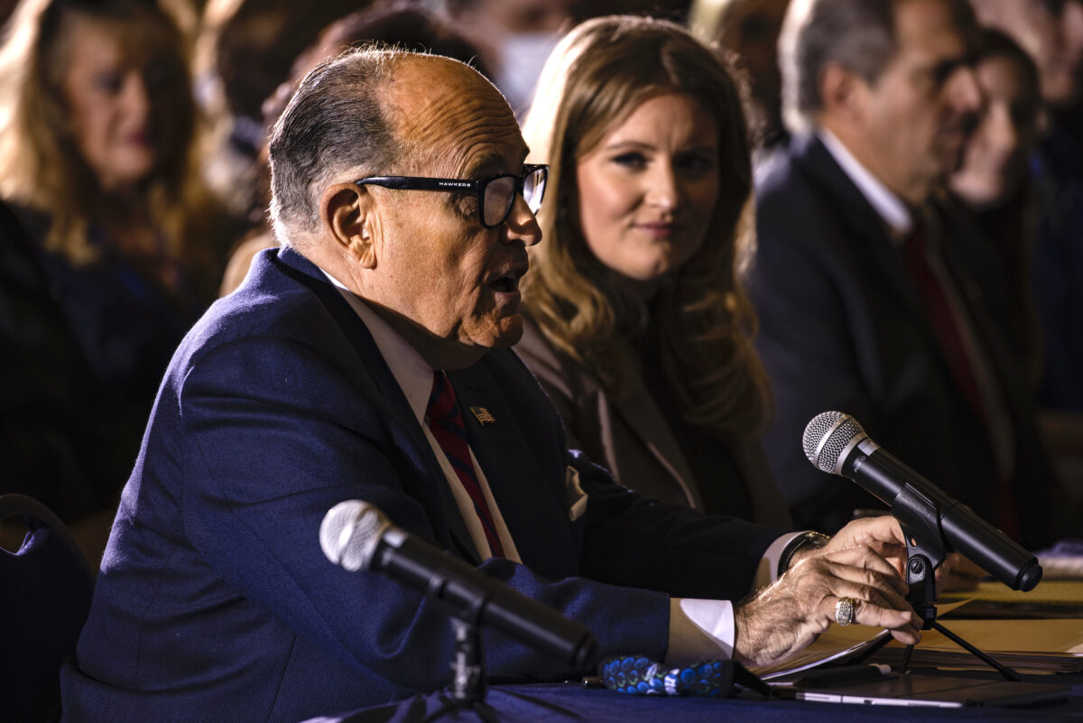 "Rudy Giuliani Attends Hearing Hosted By PA State Senators On Voting ""Irregularities"""