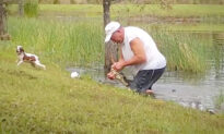 Florida Man Wrestles Alligator in Pond, Pries Open Its Jaws to Save His Small Dog