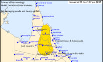 Severe Thunderstorm Warning for Parts of Northern Queensland