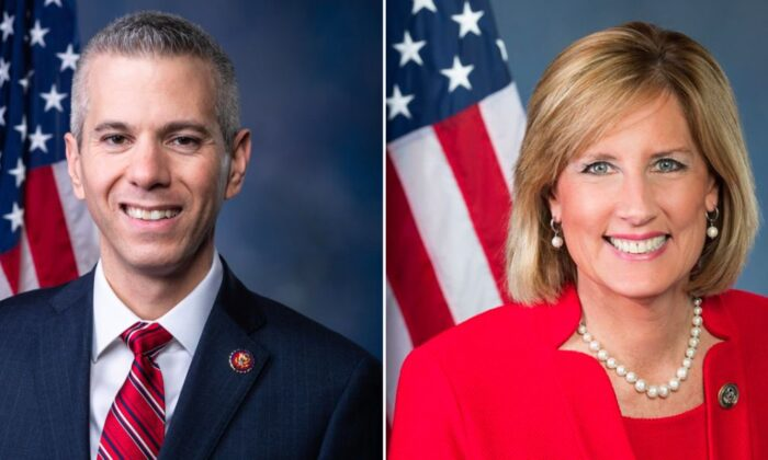 Rep. Anthony Brindisi (D-N.Y.) and Claudia Tenney. (US House of Representatives; Claudia Tenney's campaign)