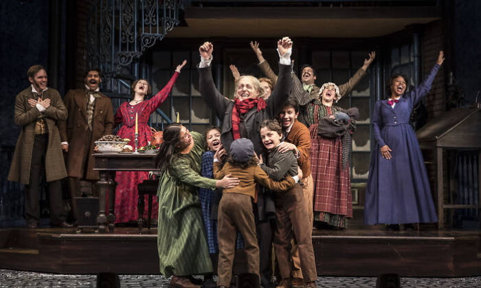"The cast of ""A Christmas Carol"" at the Goodman Theatre last year. (Liz Lauren)"