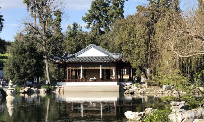 A teahouse welcomes visitors to the Chinese Garden at the Huntington Library, Art Museum, and Botanical Gardens in San Marino, Calif. (Courtesy of Bill Neely)