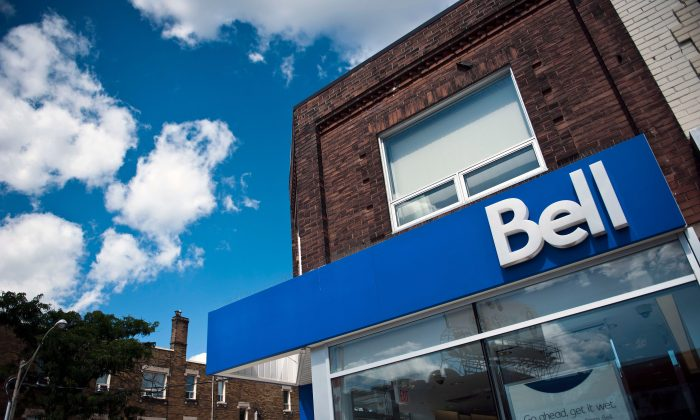 A Bell store is seen on Bloor Street West in Toronto on August 15, 2013. (The Canadian Press/Galit Rodan)