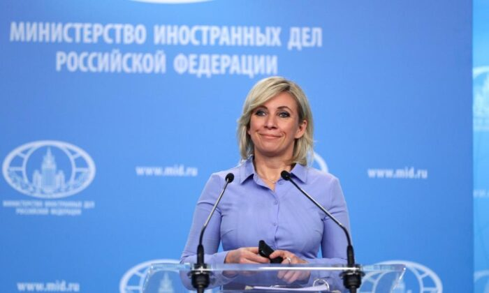 Russian Foreign Ministry Spokesperson Maria Zakharova, Nov. 27, 2020 Moscow, Russia.