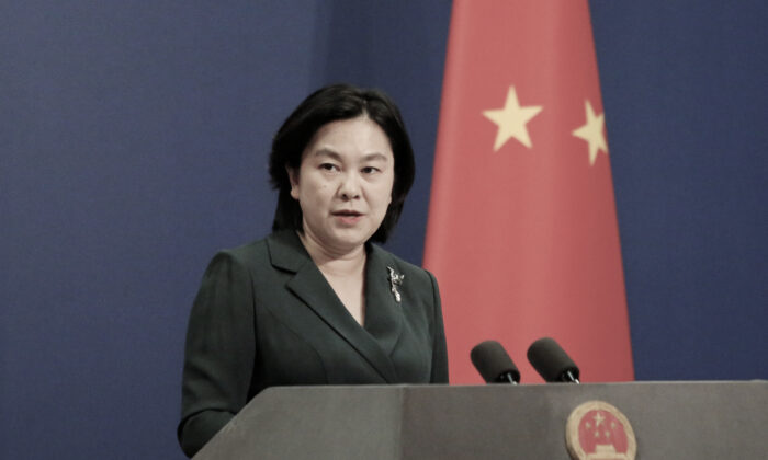 China's Foreign Ministry spokeswoman Hua Chunying attends a news conference in Beijing, on Oct. 9, 2020. She recently announced sanctions on four U.S. individuals, in apparent retaliation for the United States' sanctions on Chinese officials responsible for diminishing Hong Kong's freedoms.(REUTERS/Thomas Suen)